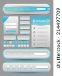 web user interface element set   Shutterstock .eps vector #214497709