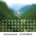 vector set of flat design...   Shutterstock .eps vector #214498819