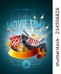 movie concept poster design... | Shutterstock .eps vector #214506826