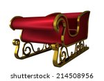 red and gold santa sleigh on... | Shutterstock . vector #214508956