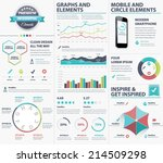 big infographic vector elements ... | Shutterstock .eps vector #214509298