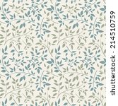 seamless pattern with floral...   Shutterstock .eps vector #214510759