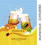 oktoberfest greeting card.... | Shutterstock .eps vector #214518583