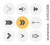 arrow icon. vector illustration. | Shutterstock .eps vector #214522300