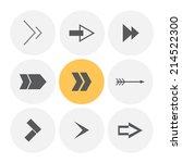 arrow icon. vector illustration. | Shutterstock .eps vector #214522300