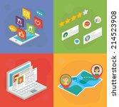 social media concept. vector... | Shutterstock .eps vector #214523908