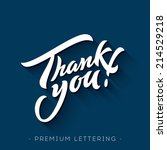 Thank You Hand Lettering...