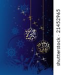 winter background  snowflakes   ...   Shutterstock .eps vector #21452965