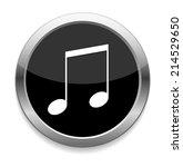 music note button   Shutterstock .eps vector #214529650