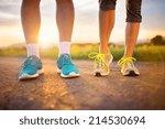 cross country trail running... | Shutterstock . vector #214530694