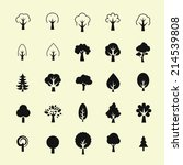 tree icon set | Shutterstock .eps vector #214539808