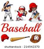 illustration of the baseball... | Shutterstock .eps vector #214542370