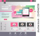 business website template in... | Shutterstock .eps vector #214546558