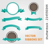 vector ribbons set | Shutterstock .eps vector #214550344