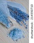 lavender bath salt   beauty... | Shutterstock . vector #214550710