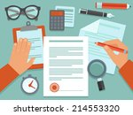 vector business concept in flat ... | Shutterstock .eps vector #214553320
