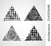grunge triangles. vector... | Shutterstock .eps vector #214555648