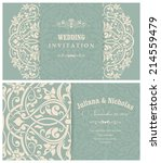 wedding invitation cards ... | Shutterstock .eps vector #214559479