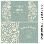 wedding invitation cards ... | Shutterstock .eps vector #214559479