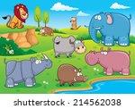 vector illustration of wild...   Shutterstock .eps vector #214562038