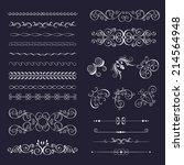 set vintage decorative frames ... | Shutterstock .eps vector #214564948