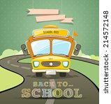 school bus concept design with... | Shutterstock .eps vector #214572148