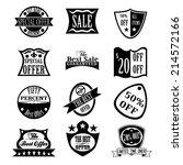 set of sale   best offer badges ... | Shutterstock .eps vector #214572166