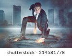 businessman superhero | Shutterstock . vector #214581778