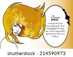 vector beauty background. girl...   Shutterstock .eps vector #214590973
