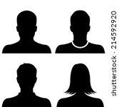 silhouette avatar profile... | Shutterstock .eps vector #214592920