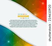 abstract creative concept... | Shutterstock .eps vector #214610920