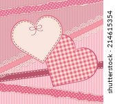 greetings card with heart form. ... | Shutterstock .eps vector #214615354