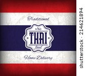 retro thai food flyer vector... | Shutterstock .eps vector #214621894