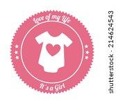 baby design over white... | Shutterstock .eps vector #214624543