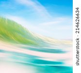 a blurred abstraction of a wave ... | Shutterstock . vector #214626634