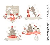 christmas graphic elements set | Shutterstock . vector #214630774