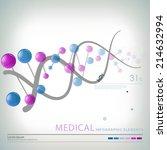 medical infographic elements  | Shutterstock .eps vector #214632994