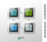 vector colorful design elements.... | Shutterstock .eps vector #214636354