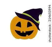 abstract halloween mask on a... | Shutterstock .eps vector #214653994