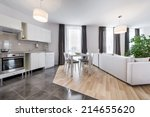 open space  modern interior... | Shutterstock . vector #214655620