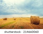 Landscape With Straw Bales On...