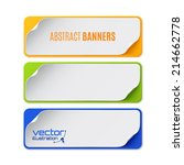 set of three colorful banners.... | Shutterstock .eps vector #214662778