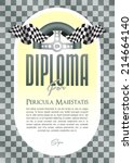 diploma with a motif of the... | Shutterstock .eps vector #214664140