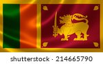 close up of the flag of sri... | Shutterstock . vector #214665790
