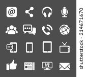 internet communication icon set ... | Shutterstock .eps vector #214671670