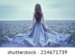 back view of standing young... | Shutterstock . vector #214671739
