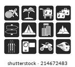 silhouette holiday travel and... | Shutterstock .eps vector #214672483