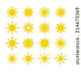 sun icon   Shutterstock .eps vector #214675369