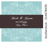 wedding invitation cards with... | Shutterstock .eps vector #214678450