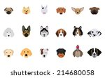 Set Of Dogs Vectors And Icons...